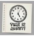 Doodle clock vector image vector image