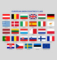 european union countries flags europe travel vector image