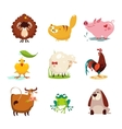 Farm Animal and Bird Collection Set vector image vector image
