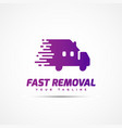 fast removal logo vector image vector image