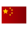 flag of china vector image vector image