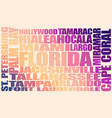 florida state cities vector image