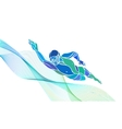 Freestyle Swimmer Silhouette Sport swimming vector image vector image