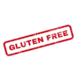 Gluten Free Text Rubber Stamp vector image
