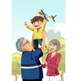 grandparents and grandson playing vector image vector image