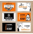 Halloween Card Set vector image