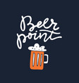 Hand drawn beer