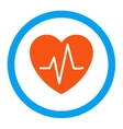 Heart Ekg Rounded Icon vector image vector image