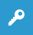 key icon white on the blue background vector image vector image