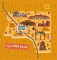 landmark map for australian coober pedy town city vector image vector image