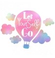Let yourself go vector image