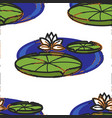 lotus flower and leaves on water oriental seamless vector image vector image