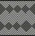 monochrome geometric diagonal lines pattern vector image vector image