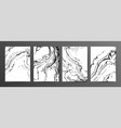 monochrome marbled paper set vector image vector image