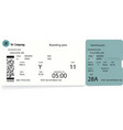 pattern of airline ticket or boarding pass vector image vector image