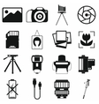 Photography set icons vector image vector image