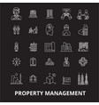 property management editable line icons set vector image vector image