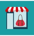 purse woman buys gifts vector image