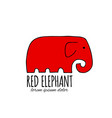 red elephant design vector image vector image
