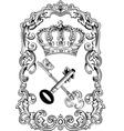 royal frame crown vector image vector image
