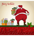 Santa Claus Christmas greeting card vector image vector image