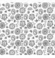 seamless pattern made of floral doodles vector image vector image