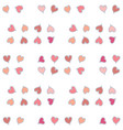 seamless pattern with red small hearts vector image vector image
