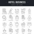 set line icons hotel business vector image vector image