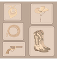 Set of cowboy items vector | Price: 1 Credit (USD $1)