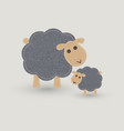sheep and lamb blanket stitch vector image