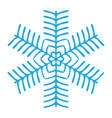 snowflake winter blue symbol icon vector image