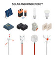 solar and wind energy generation electrical vector image vector image