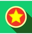 Star in circle icon flat style vector image