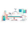 surgery room operating medical equipment set vector image vector image