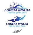 swimming symbols set vector image