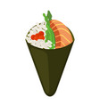 temaki food raw fish caviar rice nori in sushi vector image vector image