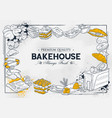 template different types bakery item vector image vector image