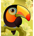 toucan on the branch vector image vector image