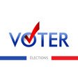 voting banner design the word vote vector image