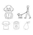 walk man protection collar fooddog set vector image