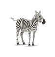 zebra sketch exotic animal icon vector image vector image