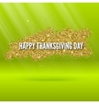 Happy thanksgiving day greeting card with glitter vector image
