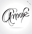 AMORE original custom hand lettering vector image vector image