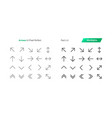 arrows ui pixel perfect well-crafted thin vector image vector image