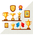awards and trophy background vector image