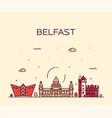 belfast skyline northern ireland linear vector image vector image