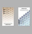 brochure design template flyers report for vector image vector image