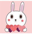 Bunny Heart vector image vector image