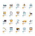 business and insurance icons vector image