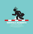 businessman get accidents on sidewalk symbol vector image